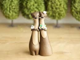 otter cake topper river otter wedding cake topper by bonjour by bonjourpoupette