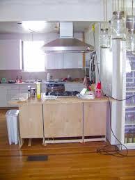 Moving Kitchen Cabinets Seesaws And Sawhorses Kitchen Peninsula