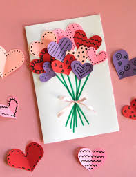 How To Make Origami Christmas Cards Bouquet Of Hearts Card For Valentine U0027s Day Heart Cards Homemade