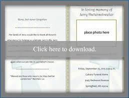 Funeral Programs Wording Free Funeral Program Templates