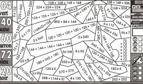 Coloriage Maths Gratuit Multiplication Unique Tables Multiplication
