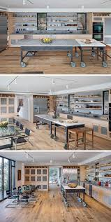 8 examples of kitchens with movable islands that make it easy to two separate movable tables can be positioned together to make the layout of industrial style kitchen island customizable