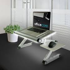 Laptops Desk by Height Adjustable Metal Standing Desk For Laptops With White Bias