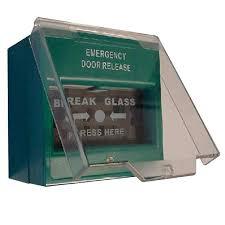 break glass door release emergency break glass unit green keyprint security ltd