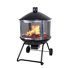 Northwest Territory Fire Pit - living accents 28in steel black firepit at ace hardware
