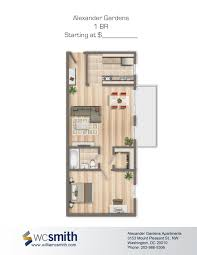 Micro Floor Plans by Alexander Gardens Bedroom Floor Plans Washington Dc And Highlands