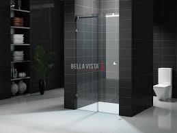 custom fully frameless sliding shower screen 1401 1600mm bella fully frameless sliding shower screen
