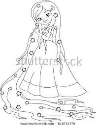 princess rapunzel coloring stock vector 618754775 shutterstock