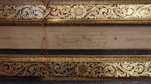 leaf shaped writing paper the beauty of palm leaf manuscripts 2 northern thai lao and lao sutras or16734