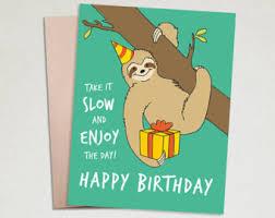 sloth birthday card lilbibby com