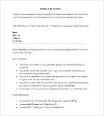 Sample Resume For Job Application by 28 Resume Templates For Freshers Free Samples Examples
