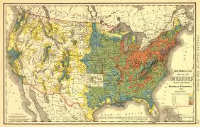 united states population map mapa de densidad de población en estados unidos 1890 la