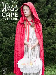 halloween costume with cape how to make a hooded cape the polka dot chair