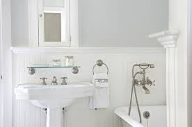Cottage Wainscoting White Beadboard Bathroom Cottage Bathroom Titan And Co Bathroom