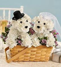 dog flower arrangement puppy bouquet the tutorial