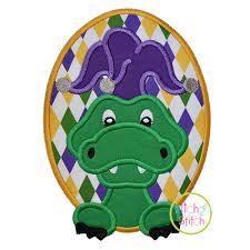 mardi gras alligator mardi gras alligator applique
