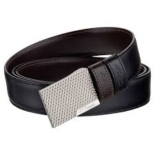 st dupont fire head reversible business leather belt palladium