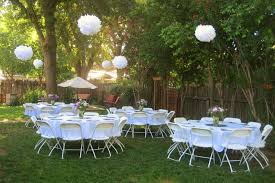 backyard wedding reception decorations on with and decoration