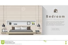 interior design modern bedroom background stock vector image