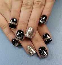 65 winter nail art ideas winter season gold glitter and winter