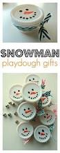 snowman playdough easy holiday gifts teacher students and gift