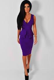 purple plunge front peplum midi dress pink boutique