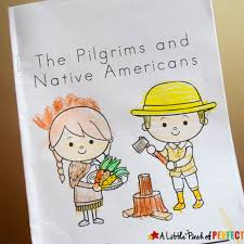 thanksgiving free printable easy reader book pilgrims and