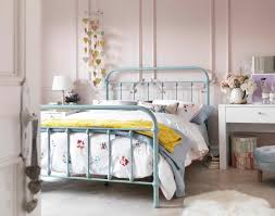 the betsy vintage hospital double bed in duck egg blue its curved