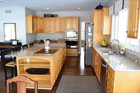 L Shaped Kitchen Rug Traditional Kitchen With Complex Granite U0026 Hardwood Floors In