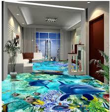 badezimmer 3d benutzerdefinierte foto selbstklebende 3d boden delphin boden