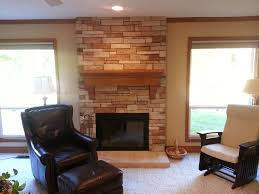 fireplace remodel cultured stone stone veneer hearth mantle
