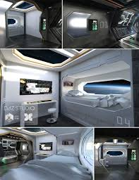 Futuristic Doors by A Futuristic Hallway Possibly Aboard A Space Ship Or Space