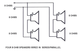 how does wiring speakers in parallel and series effect the