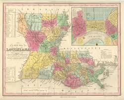 New Orleans On Map Antique Maps Of Louisiana