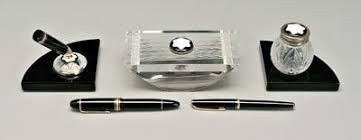 Mont Blanc Desk Accessories Price Guide For Lalique Desk Set Mont Blanc Pens Pen Stand