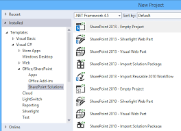 visual studio 2015 missing sharepoint 2016 project template
