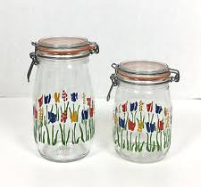 multi color kitchen glass canisters ebay