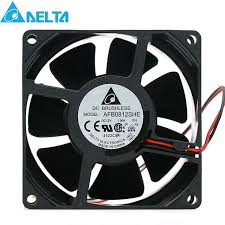 5000 cfm radiator fan delta afb0812she 8038 8cm 12v 1 0a 5000rpm 72 26cfm powerful dual
