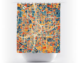 Atlanta Map Usa by Atlanta Map Shower Curtain Usa Shower Curtain Chroma Series