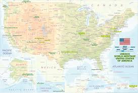 Interactive United States Map by Map Of Unesco World Heritage United States Of America Map In The