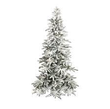 raz 7 5 pre lit flocked slim tree with clear g40 lights