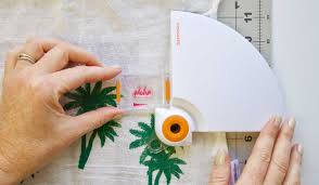 tropical theme flour sack tea towels tutorial fiskars