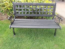 Heavy Duty Garden Benches Heavy Duty Garden Bench Cast Iron Back And Ends In Bangor