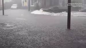 Map To New Orleans by Heavy Rain Brings Flooding To New Orleans The Weather Channel