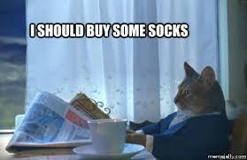 Meme Socks - cat meme the meandering musings of a media consuming mom