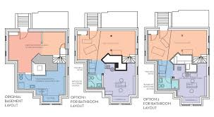 basement bathroom layout ideas
