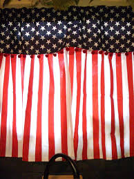 Americana Kitchen Curtains by Fourth Of July Window Valance Curtains Fourth Of July Wikii