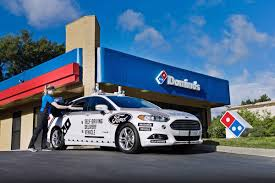 ford cars domino u0027s and ford will test self driving pizza delivery cars the