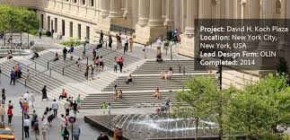 david h koch plaza creates an urban ballet of creativity