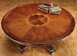 Large Round Solid Walnut Dining Table With Hidden Leaves 64 To 84 Burl Walnut Apron Gold Gilded Trim And Waxstone Edging Magnus
